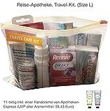 Reiseapotheke von Apotheken-Express (L-Size) 11-teilig inkl. einer Handcreme im Reiseformat (Verbenae oder Kirschblüte)
