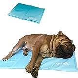 Nosli Kühlmatte Kühldecke Kühlkissen selbstkühlende Decke für Hunde / Ice blue M