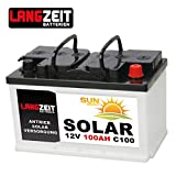 Solarbatterie 100Ah C100 12V Wohnmobil Boot Wohnwagen Camping Schiff Batterie Solar