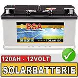 BSA Solar DC 12V 120Ah Solarbatterie Schiff Boot Marine Wohnmobil Batterie 100Ah 12V
