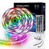 LED Strip 20M, COOLAPA LED Streifen, LED Band Steuerbar mit 44-Tasten Fernbedienung, LED Stripes Lights, 5050 RGB SMD 12V, für Beleuchtung, Zuhause, Schlafzimmer, Küche, Party, 2 Rollen von 10m (20M)