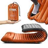 ETROL Camping Isomatte - 2 in 1 Aufblasenden Camping Pads mit Kissen (78 'x 28'), leichte, Dicke 4 'Kompaktmatte für das Reisen mit dem Auto - Ripstop, Anti-Leakage, wasserdicht für Zelt Hängematte