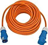 Brennenstuhl CEE 230V Camping-Verlängerungskabel 25m (H07RN-F 3G2,5 Kabel in der Signalfarbe orange, Camping-Stromkabel für den ständigen Einsatz im Außenbereich IP44, Made in Germany)