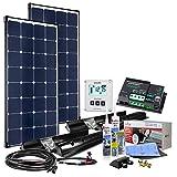 200 Watt 12V Premium XL - Solaranlage Wohnmobil Komplettset mit EBL-Option