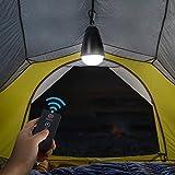 EchoSari Dimmbare 3-flammige Mode wiederaufladbar,tragbar, Wasserabweisend,LED-Zelt-Laterne mit Fernbedienung oder manueller IP65 Indoor Outdoor Camping Lampe USB Glühbirne für Wandern,Zelt,Klettern