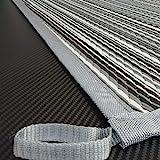 Schlauchland Zeltteppich ´´´odooro WAVETEX Stripe 2,7m x 2m *** 400 g/m² Outdoor Teppich Vorzelt Teppich Garten Spieldecke