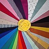 WAHATI Bündchenstoff Starterset Regenbogen bunt gemischt 6 Meter Mix-Paket (5,48 € / Meter)