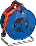 Brennenstuhl Garant IP44 Kabeltrommel (40m Kabel in orange, Spezialkunststoff, Einsatz im Außenbereich, Made in Germany), 1208470