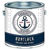 Buntlack MATT für Holz und Metall Signalweiß RAL 9003 Weiß Metalllack Metallfarbe Holzlack Holzfarbe // Hamburger Lack-Profi (1 L)