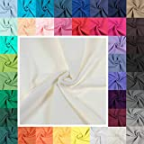 Bündchenstoff Schlauchware 35(70) cm breit Meterware ab 25cm Jersey Bündchen, Farbe:creme