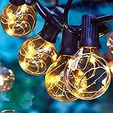 Albrillo LED Lichterkette Glühbirnen Außen, 11M 33er G40 Birnen, Wasserdicht Innen und Außen Deko Licht mit Stecker für Garten, Party, Bar, Balkon, Hochzeiten, Feier (30 Glühbirne mit 3 Ersatzbirnen)