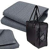 Vorzeltteppich + 6 Heringe + Tasche - 250x350 GRAU-BLAU - Zeltteppich Zeltunterlage Outdoor Camping Vorzelt Campingteppich Vorzeltboden