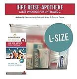 Reiseapotheke von Apotheken-Express (L-Size) 11-teilig inkl. einer Handcreme von Pharma Nature und übersichtlichem Folder zum Gebrauch