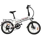 ANCHEER 20 Zoll E-Bike Pedelec Elektrofahrrad mit Lithium-Akku (36V 8Ah 288Wh), Faltbares Elektrisches Fahrrad mit 250 Watt Motor & Shimano 7-Gang Schalthebel (20' faltbar)