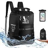 RUNACC Dry Bag Rucksack Wasserdicht Taschen Packsack 20L Schwimmender Trockensack mit Wasserdichter Handytasche für Strand, Kajak, Camping, Bootfahren, Schwimmen, Angeln, Wandern