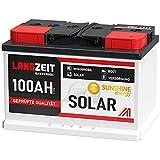 Solarbatterie 100Ah 12V Wohnmobil Boot Wohnwagen Camping Schiff Batterie Solar