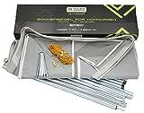 Powerseries® Wohnwagen Sonnensegel Sonnendach Vorzelt Basic   Stahlgestänge   Tiefe 240cm   Breite 300cm - 800cm   Ideal für Caravan und Reisemobile, Breite:450 cm