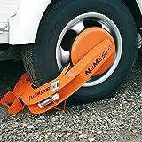 Unbekannt Wegfahrsperre Profi Parkkralle für Alu, Kunststoff und Stahlfelgen Radkrallen mit Tasche und 2 Schlüssel