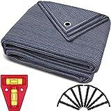 smartpeas Vorzeltteppich 250x450cm – Teppich blau/grau aus Polyethylen (HDPE) mit Edelstahl-Ösen robust & waschbar