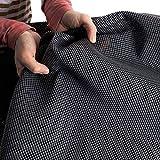 Vorzeltteppich Soft 250x350 - ZUSCHNEIDBAR - ohne Ausfransen - formfest - weich - grau - leicht - waschbar - mit Aufbewahrungstasche - Heringe und Clips - Camping Wohnwagenteppich Vorzelt Unterlage