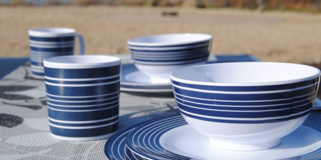 Campinggeschirr - Porzellan, Melamin, Emaille, Bambus oder Opalglas wohnwagen geschirr