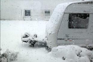 Wohnwagen winterfest machen