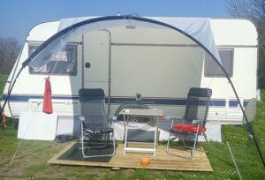 Sonnensegel Wohnwagen befestigen