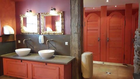 Die Einrichtung der Sanitärgebäude sind mit sehr viel Liebe zum Detail gestaltet.