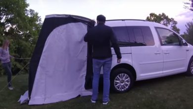 Photo of Campen im VW Caddy Beach: Schlaf-Test, Vorzelt & Innenraum-Check