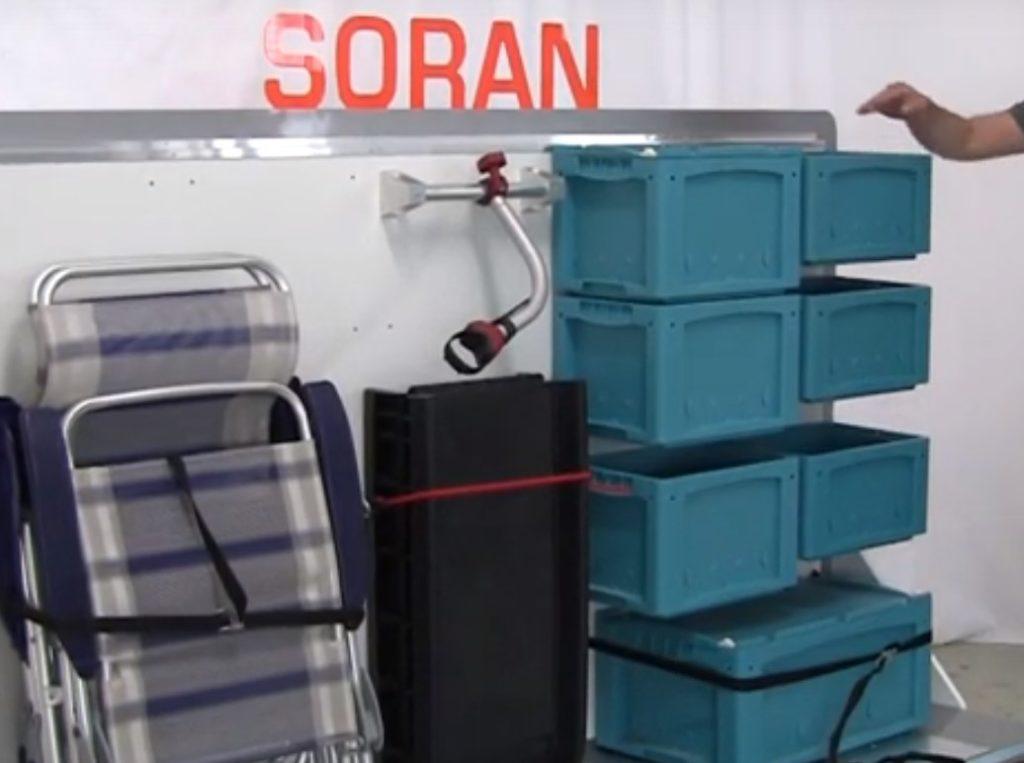 SORAN das flexible Regalsystem für Ihre Wohnmobil Heckgarage