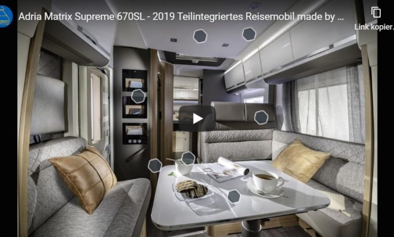 Photo of Wohnmobil Check: Adria Matrix Supreme 670SL – Teilintegriertes Reisemobil