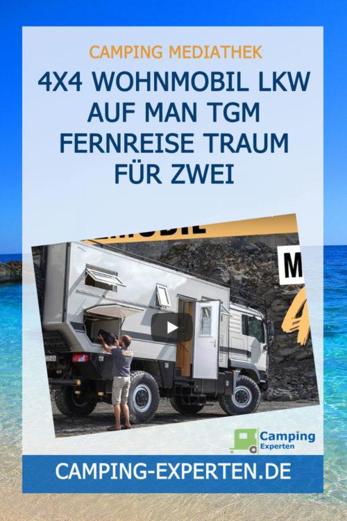 4x4 Wohnmobil Lkw auf MAN TGM Fernreise Traum für Zwei
