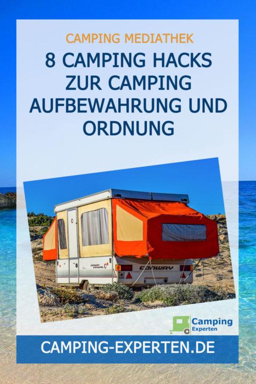 8 Camping Hacks zur Camping Aufbewahrung und Ordnung