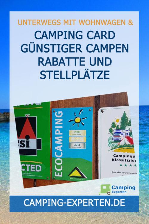 Camping Card günstiger campen Rabatte und Stellplätze