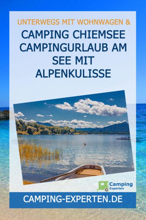 Camping Chiemsee Campingurlaub am See mit Alpenkulisse