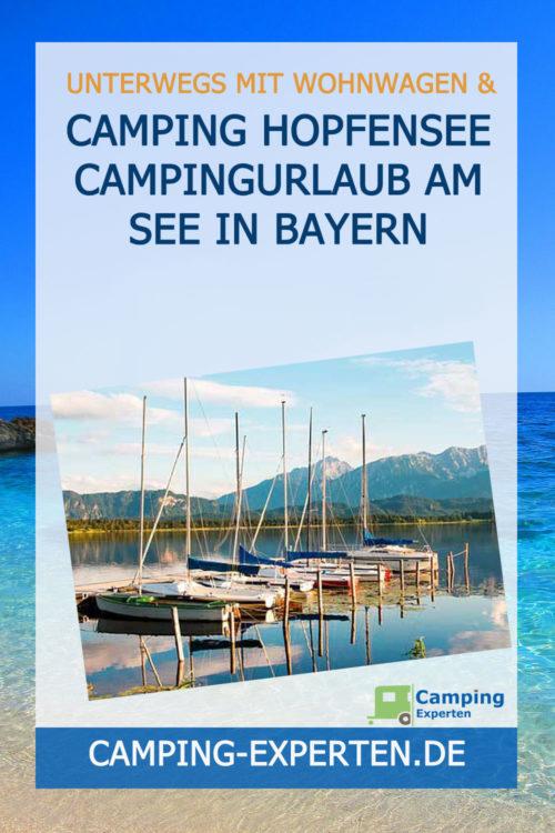 Camping Hopfensee Campingurlaub am See in Bayern