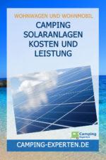Camping Solaranlagen Kosten und Leistung