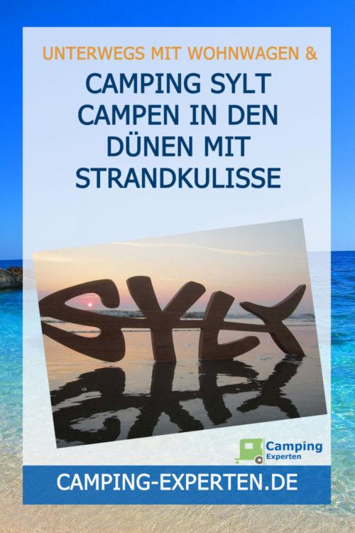 Camping Sylt Campen in den Dünen mit Strandkulisse