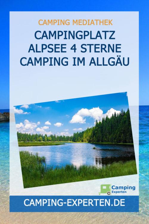 Campingplatz Alpsee 4 Sterne Camping im Allgäu