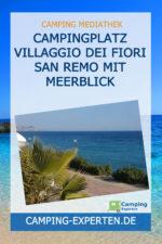 Campingplatz Villaggio dei Fiori San Remo mit Meerblick