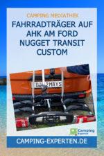 Fahrradträger auf AHK am Ford Nugget Transit Custom