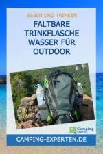 Faltbare Trinkflasche Wasser für Outdoor Aktivitäten