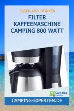 Filter Kaffeemaschine Camping 800 Watt