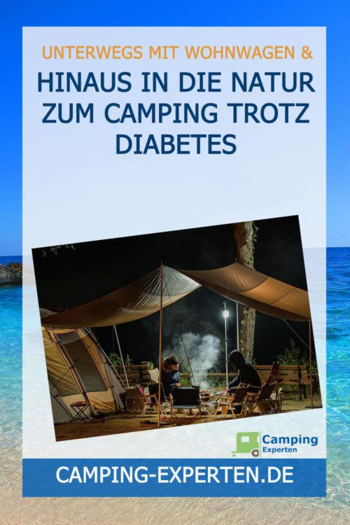 Hinaus in die Natur zum Camping trotz Diabetes