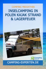 Inselcamping in Polen Kajak Strand & Lagerfeuer