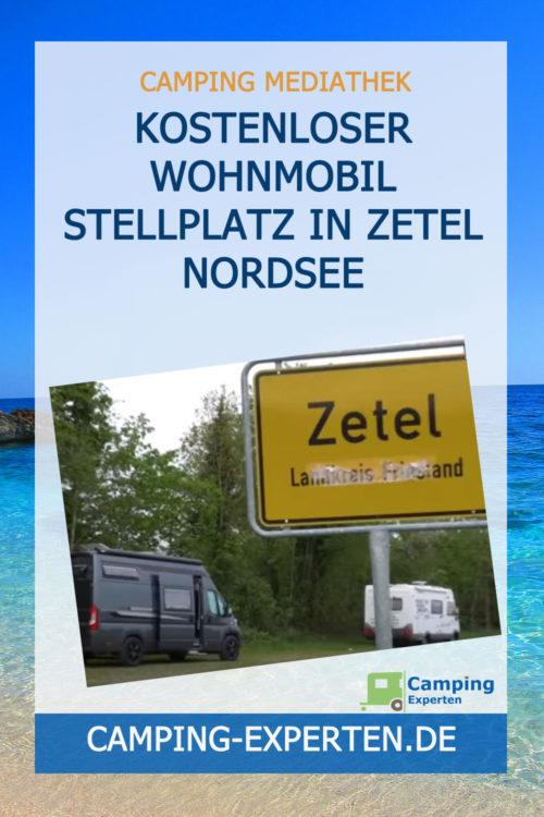 Kostenloser Wohnmobil Stellplatz in Zetel Nordsee