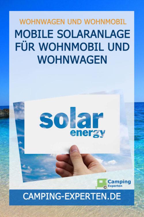 Mobile Solaranlage für Wohnmobil und Wohnwagen