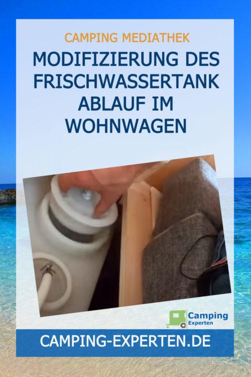 Modifizierung des Frischwassertank Ablauf im Wohnwagen
