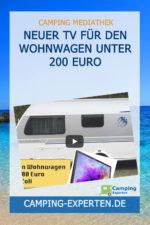 Neuer TV für den Wohnwagen unter 200 Euro