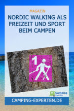 Nordic Walking als Freizeit und Sport beim Campen